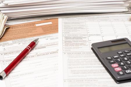 tax forms: Filling polish tax forms  PIT-37