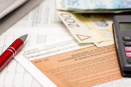 Filling polish tax forms  PIT-37