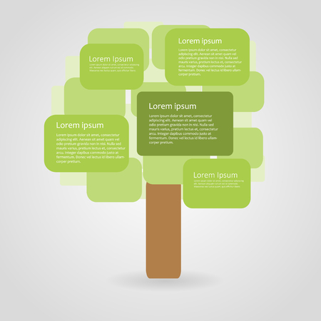 tree design: Abstract ecology infographic, illustration