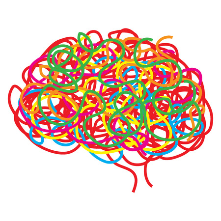 brain illustration: Concept of the human brain, illustration Illustration