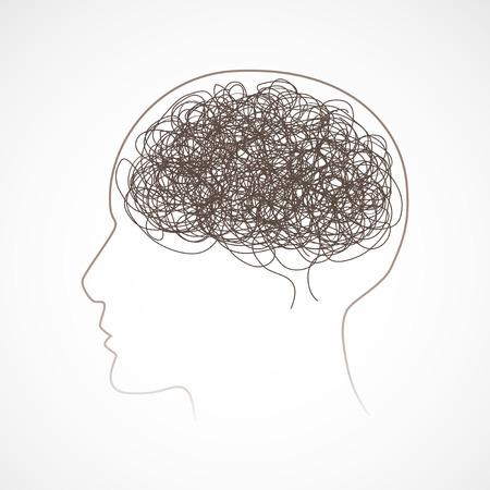 Concept of the human brain, illustration Ilustracja
