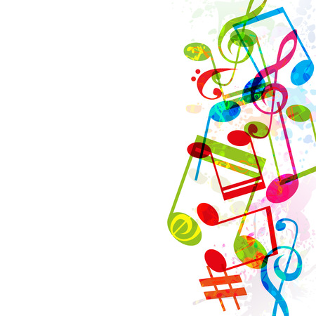 abstract music: Abstract music background, illustration