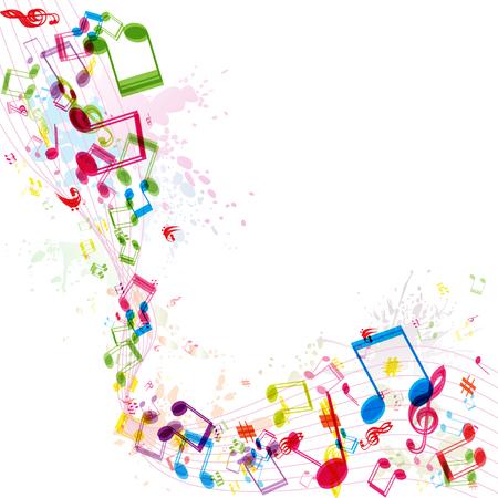 Abstracte muziek achtergrond afbeelding