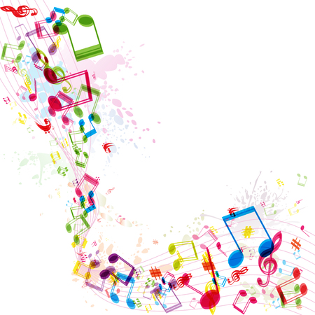 Abstract music background, illustration