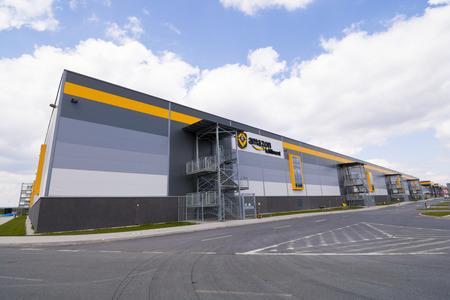 amazon com: BIELANY, POLAND - MAY 04, 2016: The newly opened warehouse of retailer amazon.com. on 04 may, 2016 in Bielany near Wroclaw, Poland.
