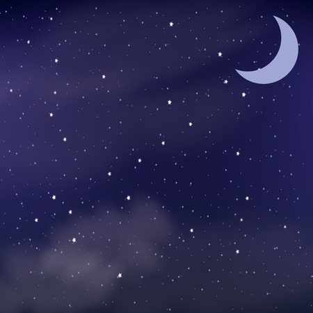 starlit: Cloudy night sky as a background Illustration