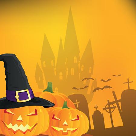 Abstract halloween background, illustration