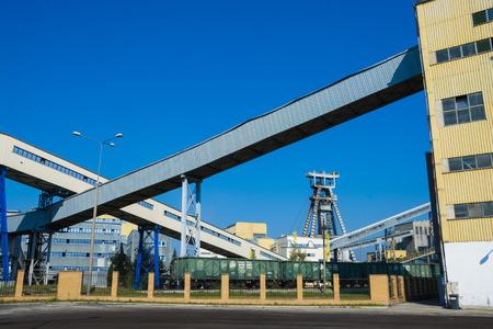 Bogdanka, Poland, SEPTEMBER 11, 2016: Bogdanka coal mine. Lubelski Wegiel Bogdanka S.A. is one of the leading manufactures in hard coal market in Poland on September 11, 2016 near Bogdanka, Poland.