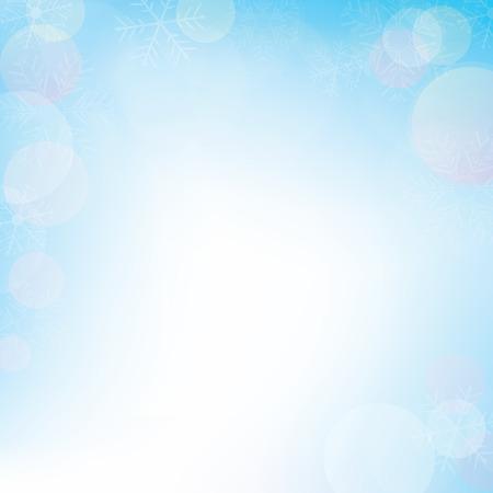Winter bokeh background for christmas, vector illustration Ilustracja