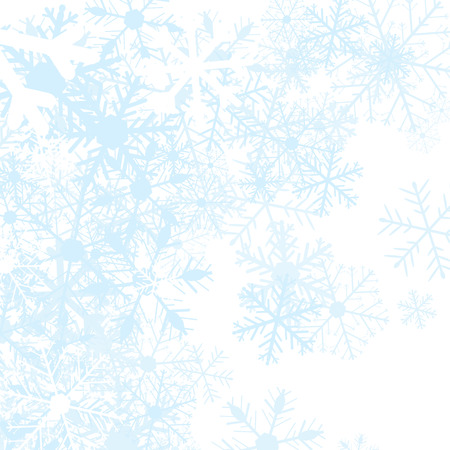 Winter background with snow flakes, vector illustration