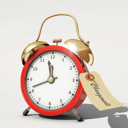 time change: Time to change Stock Photo