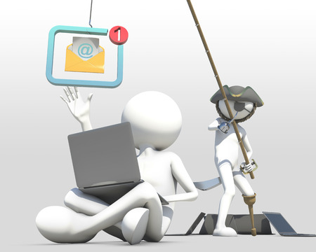 phishing: business concept of internet scam with phishing