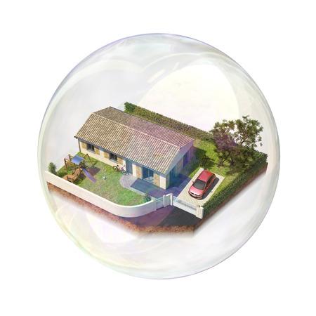 subprime: Real estate bubble Stock Photo
