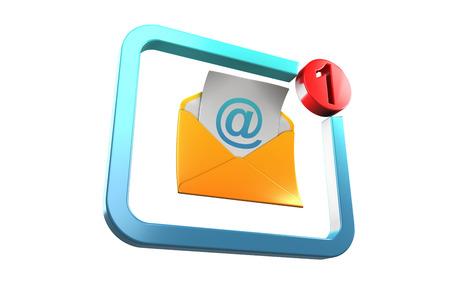 new message: New message icon blue orange