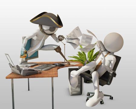 phishing: Phishing pirate Stock Photo
