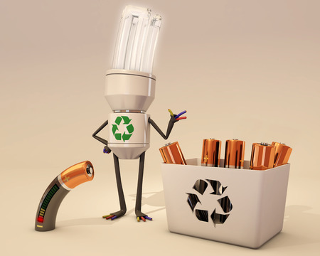 recycling: battery recycling Stock Photo