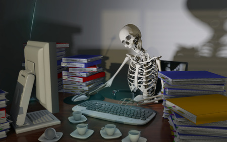 overwork death Stock Photo