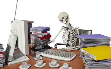 overwork death Banque d'images