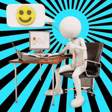 rendering: happy worker, 3d rendering