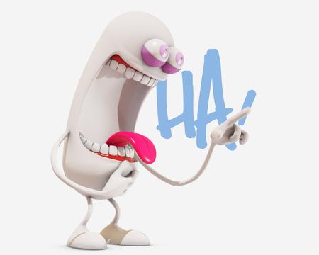 3d: 3d cartoon laughing, 3d rendering