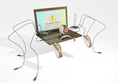 malware found, 3d rendering