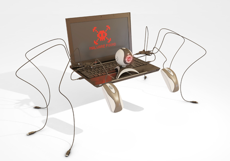 malware: malware found, 3d rendering