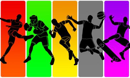 multisport illustration Stock Photo