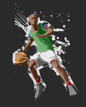 basketball player, 3d rendering