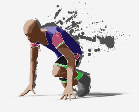 Runner, 3d rendering Stock Photo