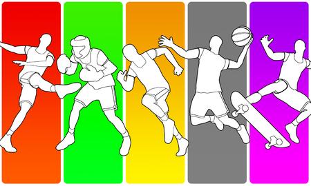 multisport illustration Banque d'images