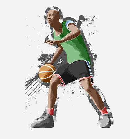 basketball player, 3d rendering