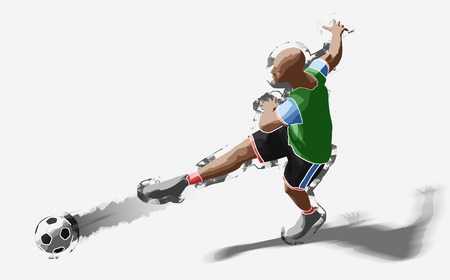 Soccer player, 3d rendering