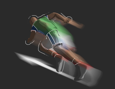 Runner, 3d rendering Stock Photo