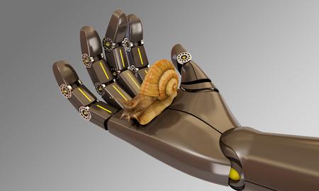 animal limb: robot protecting environment, 3d rendering Stock Photo