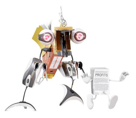 tax monster running after profits, 3D rendering