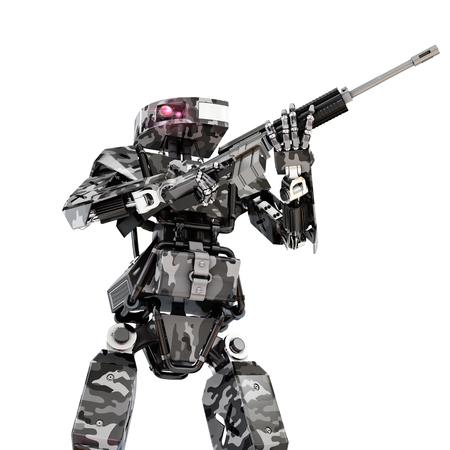 robot soldier, 3d rendering
