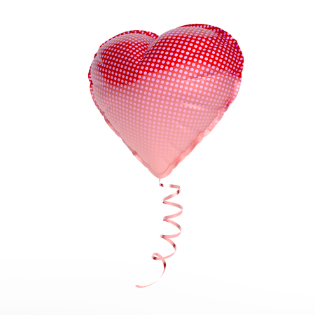 inflatable balloon shaped as a heart over white background Stock fotó - 126491504