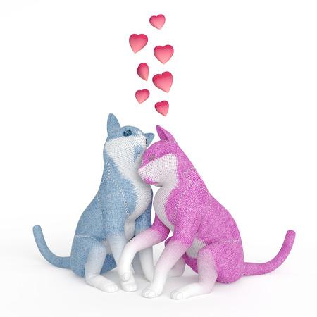 puppet cats in love Stock fotó - 126491506