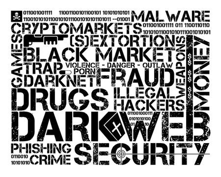 dark web tag cloud, black letters over white background Stock fotó - 126491510
