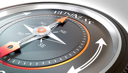 compass needle pointing business word Stock fotó - 126491420