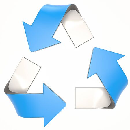 blue 3D recycling logo Stock fotó - 132393478