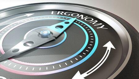 compass needle pointing ergonomy word Stock fotó - 132310276