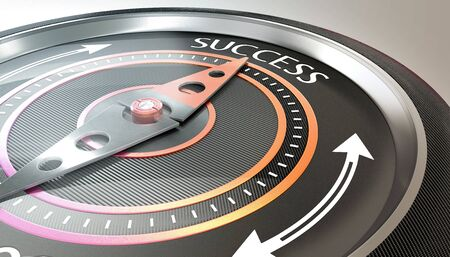 compass needle pointing success word Stock fotó - 132310531
