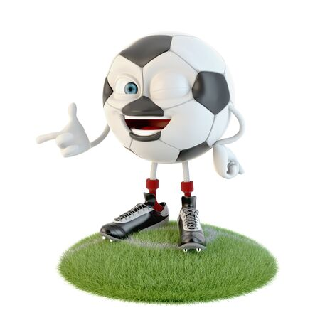 Wink soccer ball character over white