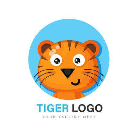 Cute tiger design Illustration