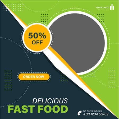 Food pasta social media template