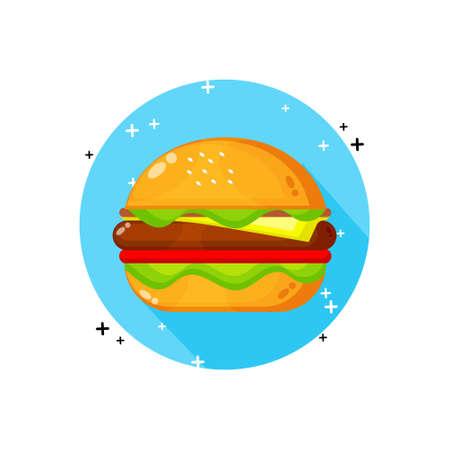 Burger icon vector design