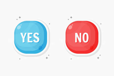 Yes and no button icon design