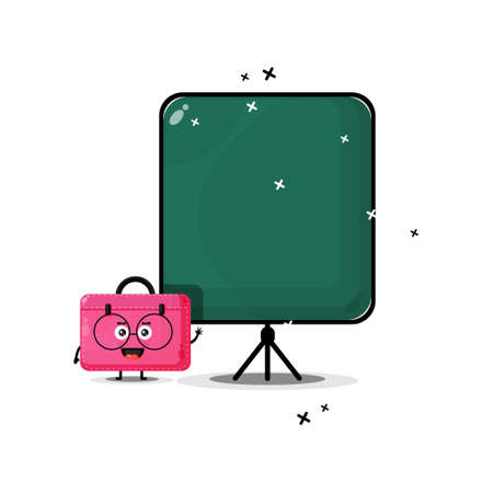 Cute work bag mascot becomes a teacher Illusztráció