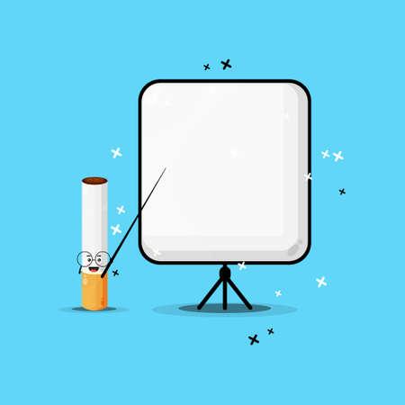 Cute cigarette mascot becomes a teacher Stock fotó - 157018138